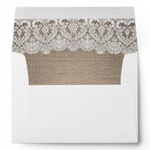 Burlap and Lace Rustic envelope
