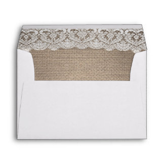 Burlap and Lace Rustic envelope