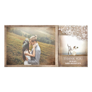 Burlap and Lace Rustic Vintage Wedding Card