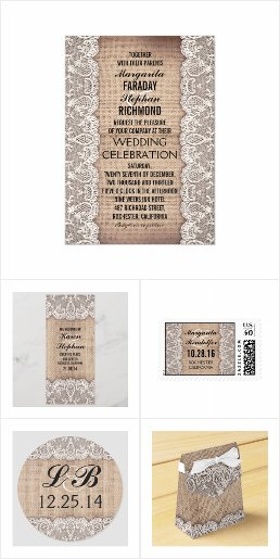 Burlap and Lace Rustic Wedding Collection