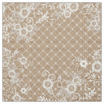 Burlap and Lace Shabby Chic Fabric