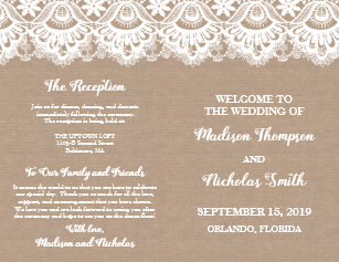 booklet wedding programs zazzle