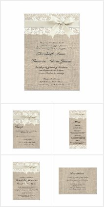 Burlap and Lace Weddings