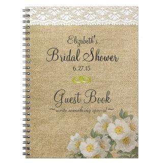 Burlap and Primrose Bridal Shower Guest Book