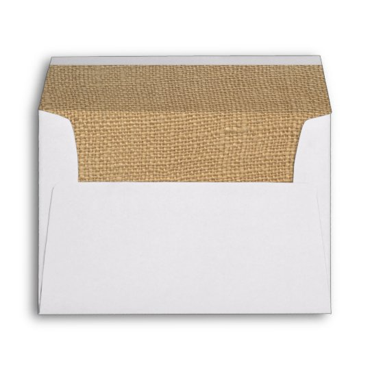 burlap antique white lace wedding 5x7 envelope zazzle com