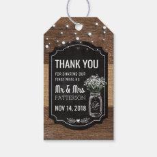 Burlap Baby Breath Wooden Wedding | Mason Jar Favor Gift Tag