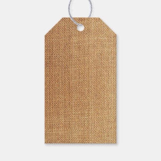 Burlap Background Gift Tags