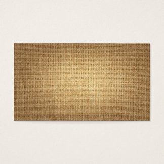 Burlap Background Template Business Card