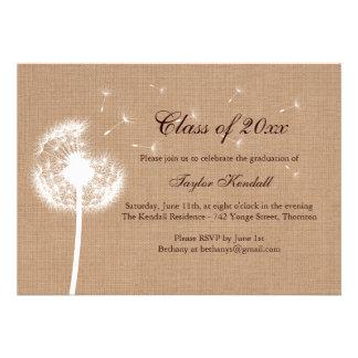 Burlap Best Wishes Graduation Invitation