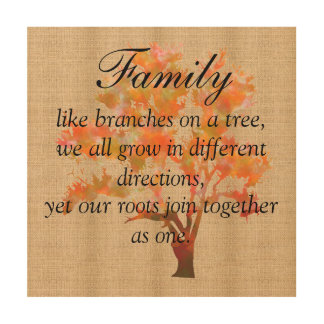 Burlap Board Sign - Family Branches