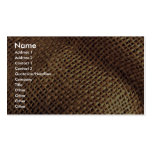 Burlap Double-Sided Standard Business Cards (Pack Of 100)
