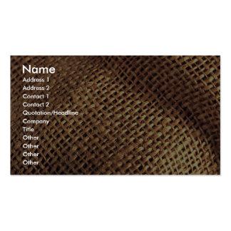 Burlap Business Card Templates