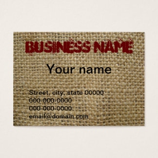 Burlap Business Card