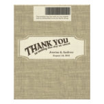 chocolate bar wrapper, candy wrapper, burlap,