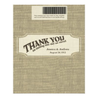 Burlap Candy Bar Wrapper Favor Flyer