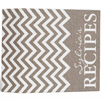 Burlap chevron pattern recipe binder book