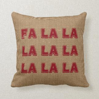 Burlap Christmas Holiday Pillow