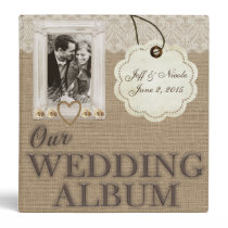Burlap Country Couple Photo Wedding Photo Album Binder