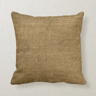 Burlap Country Rustic Fabric Throw Couch Pillow