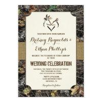 Burlap + Deer Hunting Camo Wedding Invitations (<em>$2.15</em>)