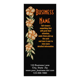 Burlap Flower Border rackcard