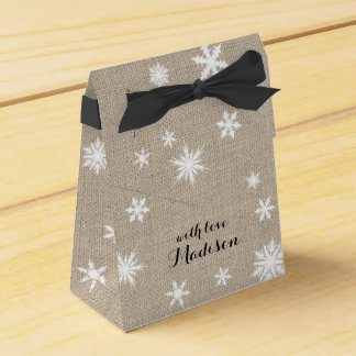 Burlap Holiday Gift Box