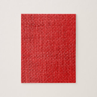 Burlap in Christmas Red Jigsaw Puzzle