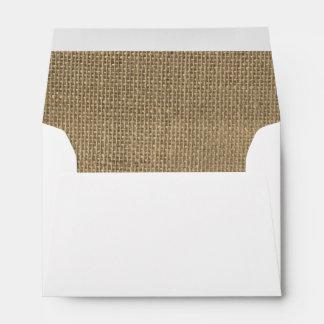 Burlap in Natural Beige Envelope