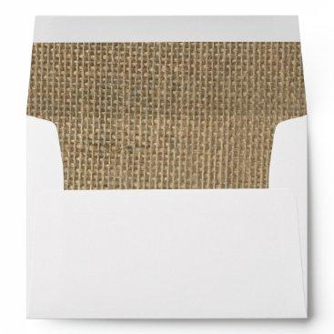 McTiffany Tiffany Aqua Burlap in Natural Beige Envelope