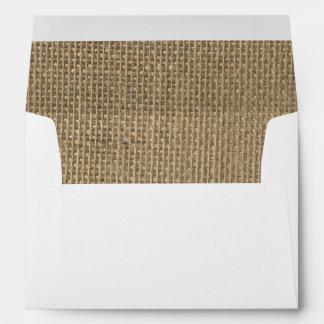 Burlap in Natural Beige Envelopes