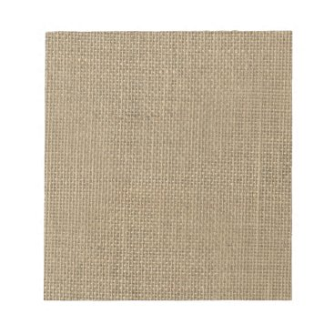 Aqua Burlap in Natural Beige Notepad