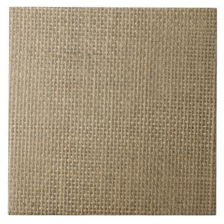 Burlap in Natural Beige Ceramic Tile