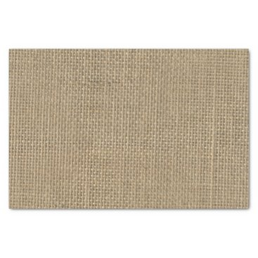 Aqua Burlap in Natural Beige Tissue Paper