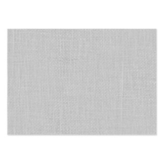 Burlap in Silvery White Large Business Card