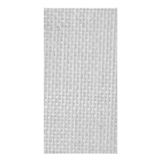Burlap in Silvery White Photo Card