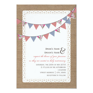 500 Bunting Wedding Invitations Bunting Wedding Announcements Amp Invites