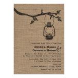 "Burlap Inspired Outdoor / Camping Wedding 5"" X 7"" Invitation Card"