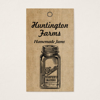 Burlap Jam and Jelly Price Tag