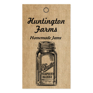 Burlap Jam and Jelly Price Tag Business Card