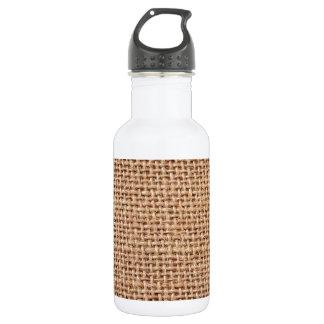 Burlap Jute Fabric Look Brown 18oz Water Bottle