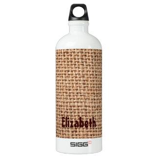 Burlap Jute Fabric Look Brown SIGG Traveler 1.0L Water Bottle