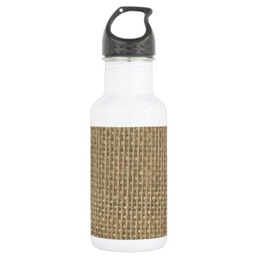 Valentines Themed Burlap Jute Sacking Stainless Steel Water Bottle