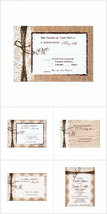 Burlap, Lace and Twine Wedding Collection