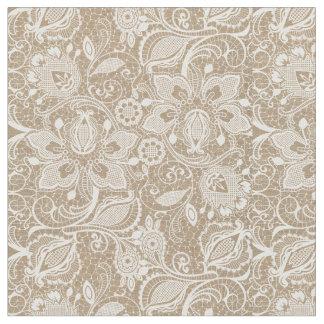 Burlap & Lace Exotic Floral Fabric