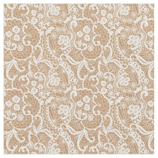 burlap amp lace fantasy design fabric material zazzle
