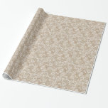 Burlap & Lace Floral Paper Wrapping Paper