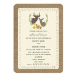 Burlap + Lace Inspired Deer Fall Rehearsal 5x7 Paper Invitation Card