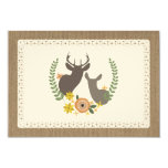 Burlap & Lace Inspired Fall Floral Deer RSVP Card