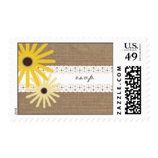 Burlap & Lace Inspired Wildflowers R.S.V.P. Postage