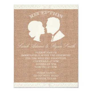 Burlap & Lace Print Reception Invitation